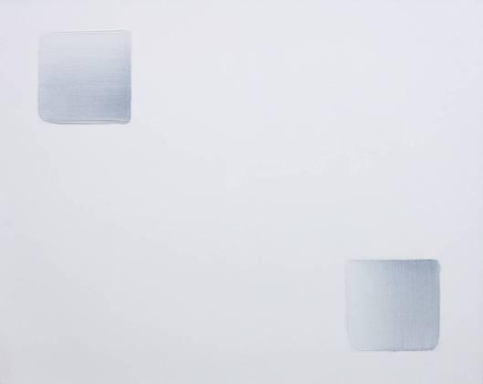 이우환, '조응'. 캔버스 위에 미네랄 염료와 유화, 100 x 80.3cm. 2003. (사진 = 갤러리일호)
