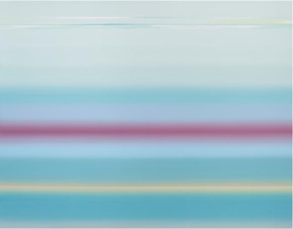 김소연, '플롯-스카이 블루(float-sky blue). 91 x 116.8cm, 캔버스에 아크릴. 2016. (사진 = 갤러리일호)