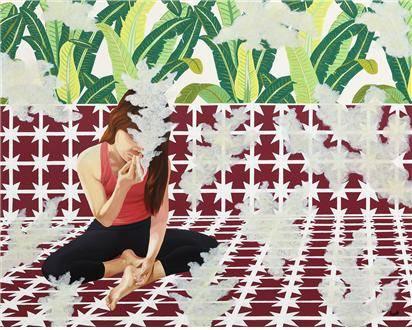 최상진, '연기도 떠다니는 방'. 100 x 80.3cm, 캔버스에 아크릴과 유화. 2015. (사진 = 토포하우스)