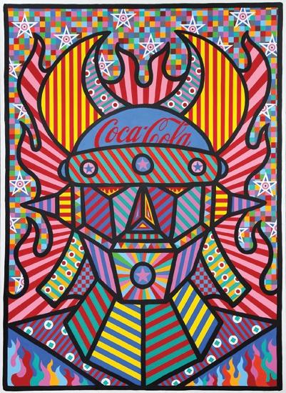 로보트태권브이, 캔버스에 아크릴릭, 150x109cm, 2011.<br />